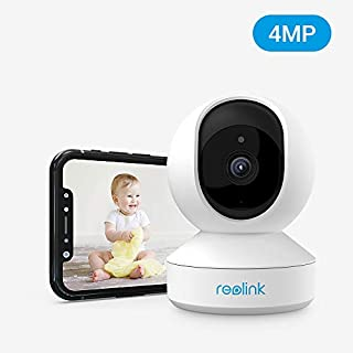 Indoor Security Camera, Reolink E1 Pro 4MP HD Plug-in WiFi Camera for Home Security, Dual-Band WiFi, Multiple Storage Options, Motion Alters, Night Vision, Ideal for Baby Monitor/Pet Camera