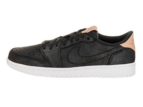 Jordan Nike Männer Air 1 Retro Low OG Prem Basketballschuh Schwarz / Vachetta Tan Weiß