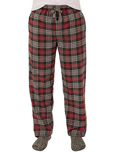 Fruit of the Loom Men's Yarn-dye Woven Flannel Pajama Pant (Small, Red/Grey Plaid) ()