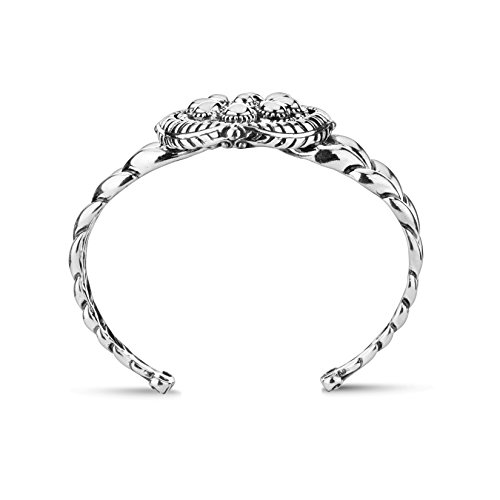 American West Genuine .925 Sterling Silver Interchangeable Cuff Bracelet by American West (Image #4)