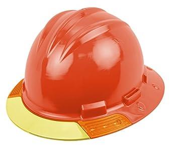 Bullard avobby arriba Vista duro sombrero, Naranja, Vinilo cejas visera Pad, hebilla ajustable