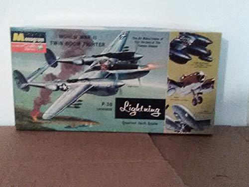 (Monogram P-38 Lockheed Lightning Vintage Blue Box 1/48)