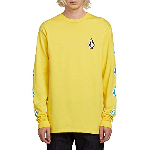 Volcom Men's Deadly Stones Long Sleeve Tee, True Yellow, Large (Volcom Skateboard)