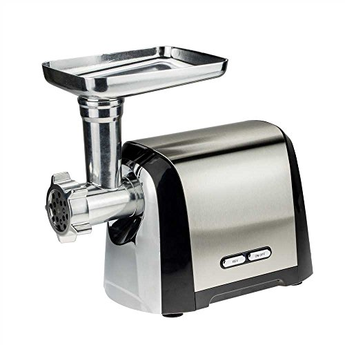 Ultra Multifunction Meat Grinder with ,Stainless steel body.Reversible function,Removable No.5 grinder head,minced garlic、mince meal、sausace、noodle、fish slip, Fashion (Villaware Meat Grinder)