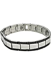 Men's Stainless Steel Celtic Design Border Bracelet