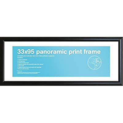 Gb Eye Ltd Nero Panoramique 33 X 95cm Azure Cornice