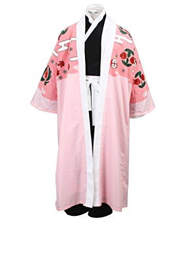 Mtxc Men's Bleach Cosplay Kyoraku Shunsui 3rd Squad Eight Uniform Simplify Ver Size XX-Large Pink