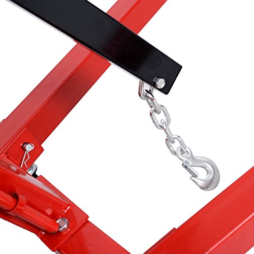 Goplus 2 TON 4000 lb Engine Hoist Stand Cherry Picker Ship Crane Folding Lift (Red) by Goplus (Image #6)
