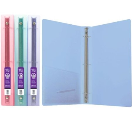 "3 Pk, Bazic 1"" Glitter Poly 3-ring Binder with Pocket"
