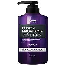 KUNDAL Honey&Macadamia Hydro-Intensive Protein Premium Nature Shampoo & Treatment 500ml (ACACIA MORINGA Treatment)