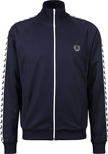 Fred Jacket Track Perry Blu Laurel Carbonio Nastro Da p8Pqp