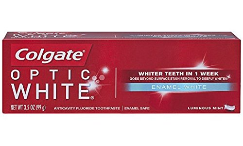 Colgate Optic White Enamel White Luminous Mint Toothpaste, 3.5 oz - Buy Packs and SAVE (Pack of 3)