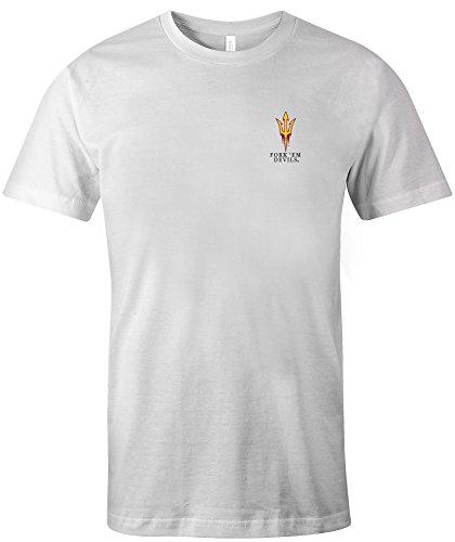 Image One NCAA Arizona State Sun Devils Adult Painted Flag Jersey Short sleeve T-Shirt, Medium,White