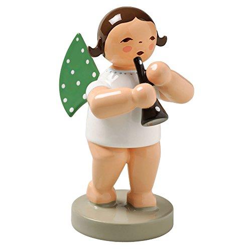 Wendt & Kuhn Brunette Hand Painted Grunhainichen Angel Clarinet Figurine