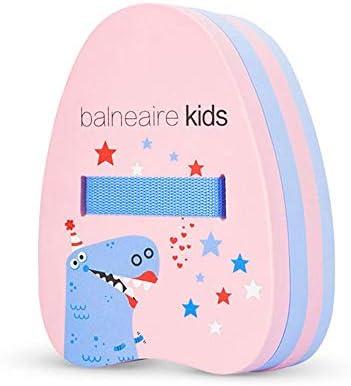子供のバック浮動ボード、肥厚水ボード/水泳安全フロート、水泳補助機器の初心者のトレーニング、大浮力/スリップ/丈夫なバックル (Color : Pink)