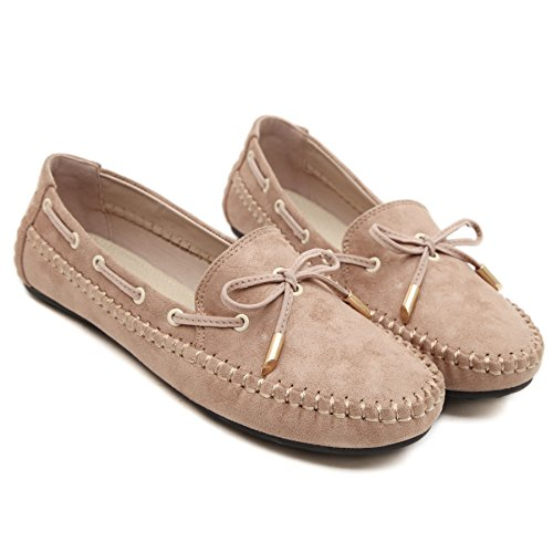 Shoes Apricot amp;narrow Casual Sosushoe amp;walking Slip Slim Driving Loafers Flats On Womens Moccasins qPq47xA