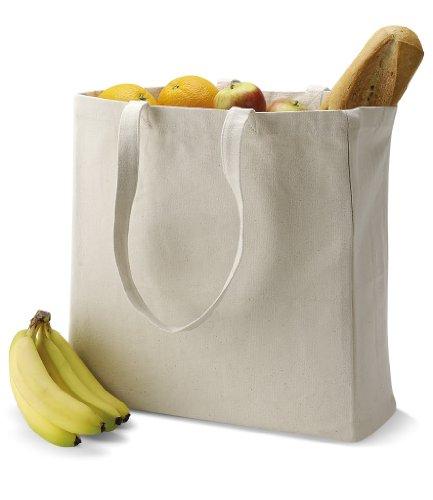 Quadra-Shopper in tela, colore nero