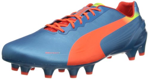 PUMA Men's Evospeed 1.2 Firm Ground Soccer Shoe,Sharks Blue/