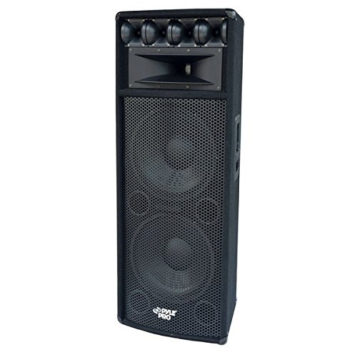 Portable Cabinet PA Speaker System - 1600 Watt Outdoor Sound System Vehicle Stereo Speakers w/ Dual 12