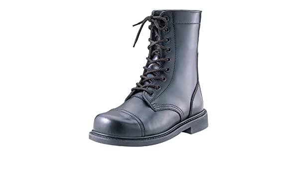 Amazon.com  Army Universe Black Leather GI Style Steel Toe Combat Boots  5092 Size 12  Clothing 2ebaa4a3245