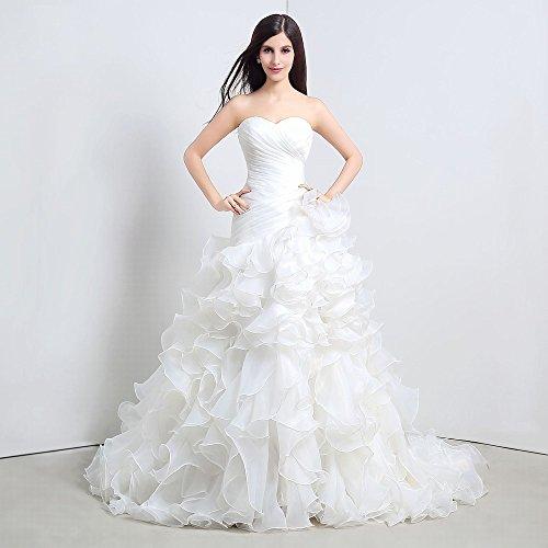 Größe Bride Oben Brautkleid Kleine Große Schleppende Rohr Weiß Hochzeit Kleid XS homee FIp7gxp