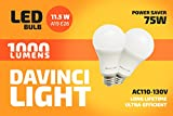 Davinci Light - 11.5W Light Bulbs - Premium 3-Pack A19, E26 Non-Dimmable LED Soft Light - 6500K - Top Energy Saving LED Light Bulbs - Perfect 60W Incandescent Bulb Replacement (3 Pack, Soft White)