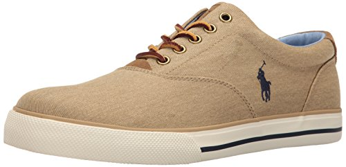 Ralph Lauren Mens Vaughn Textile Trainers Tan