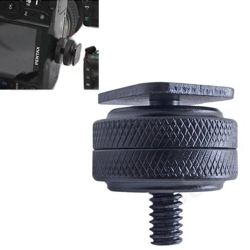 """HDE Metal Hot Shoe 1/4""""-20 Thread Screw Post Converter Adapter for Camera to Tripod Flash Mount"""