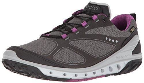 ECCO Women's Biom Venture Gore-Tex Trail Runner, Black/Titanium/Orchid, 38 EU/7-7.5 M US