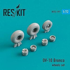 Reskit RS72-0197 - 1/72 OV-10 Bronco Wheels Set Scale Resin Detail kit 3