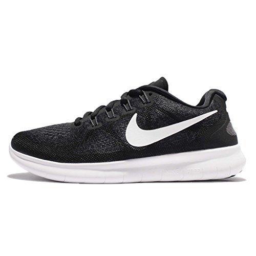 Nike Womens Free RN 2 Running Shoe Black/White/Dark Grey/Anthracite 12