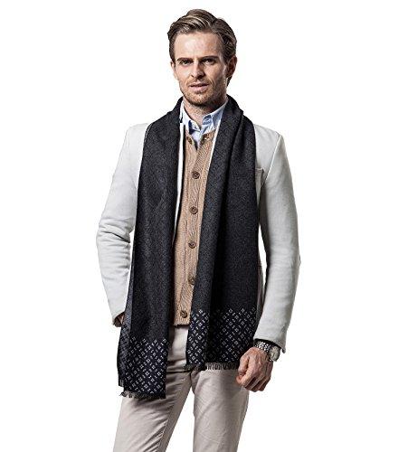 Scarf for Men,Men's Cashmere Scarf Classic Plaid Leisure Business Neckerchief
