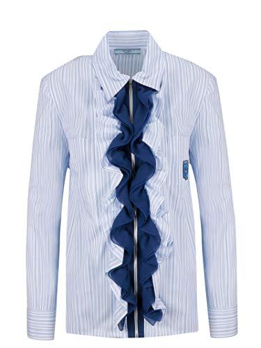 Prada Women's P496c1td8f0ne3 Light Blue Cotton Blouse ()