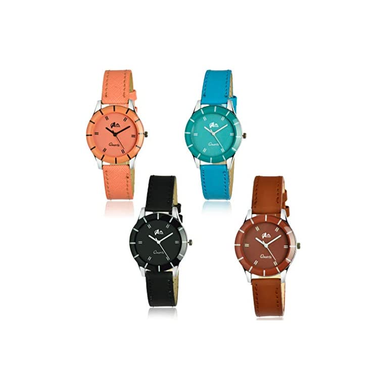 41D6Il1%2B90L. SS768  - Acnos Analogue Multicolour Dial Women's Watch - Pack of 4