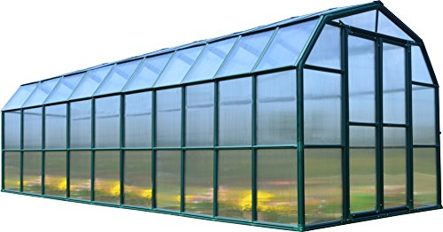 Rion Grand Gardener 2 Twin Wall Greenhouse, 8' x 20' (Door Greenhouse Double)