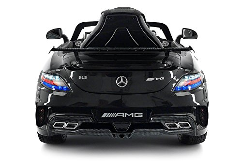 Carbon Black Sls Amg Mercedes Benz Car For Kids 12v