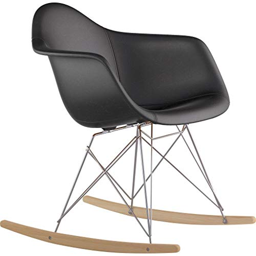NyeKoncept 332009RO1 Mid Century Rocker Chair, Milano Black from NyeKoncept