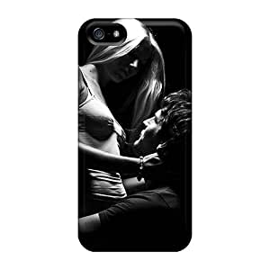 Iphone 5/5s Hard Back With Bumper Silicone Gel Tpu Case Cover Couple In Love
