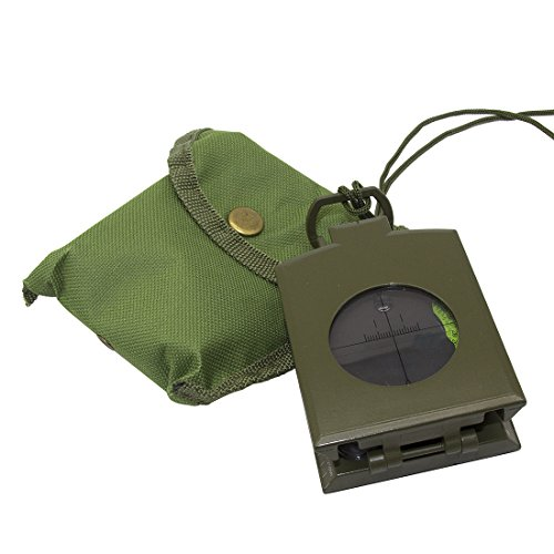 Professional Compass Metal Pocket Size VOVCIG Waterproof Shakeproof 50mm Dial Compass Multifunction Military Army Sighting Compass with Inclinometer for Camping Hiking Army Green