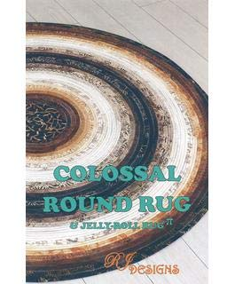 RJ Designs RJD130 Jelly Roll Rug Colossal RdPtrn None
