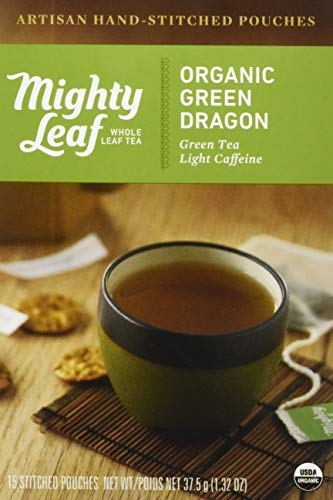 (Mighty Leaf Tea Organic Green Dragon Hand-Stitched Tea Bags, 15 ct)