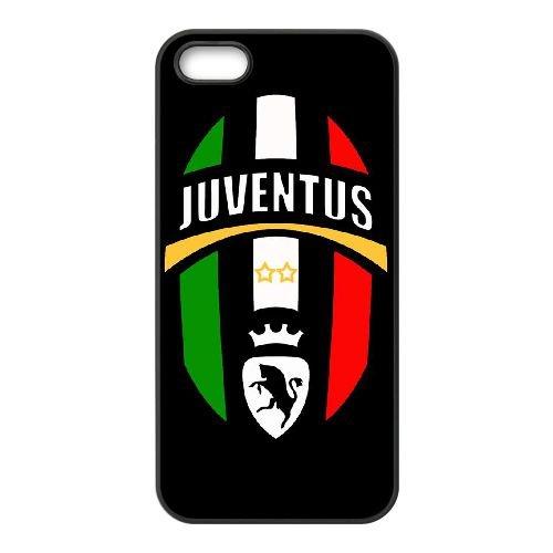 Juventus 024 coque iPhone 5 5S cellulaire cas coque de téléphone cas téléphone cellulaire noir couvercle EOKXLLNCD25071
