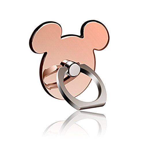 pipigo l096 Kickstand Phone Ring Stand Holder, 360 Rotation Cell Phone Grip, Universal Smartphone for Apple iPhone 7/7 Plus/6/6S/5/5S/Samsung Galaxy Note, Tablet and iPad - Rose Gold (Tinkerbell Phone Cell Accessories)