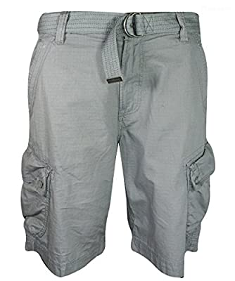 Calvin Klein Men's Belted Ripstop Cargo Short
