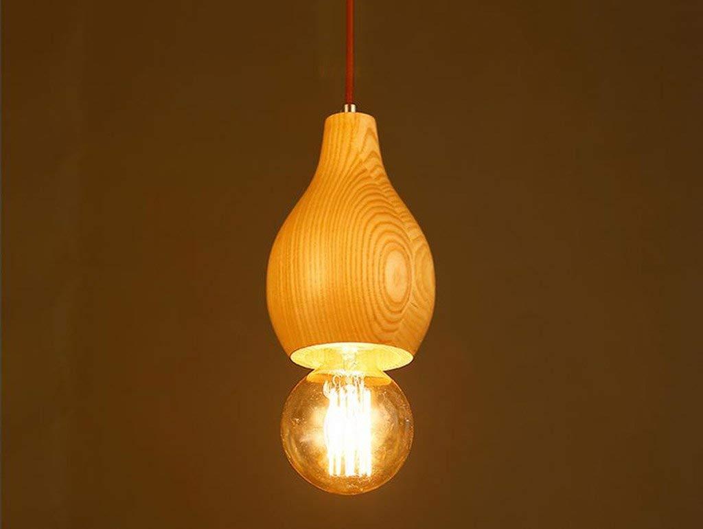 1 Gummi Holz Kunst Leuchter Restaurant Bar kreative Lampen Einfache Cafe kreative Lampen einem Kopf E27 Mode. Z (Farbe  1)