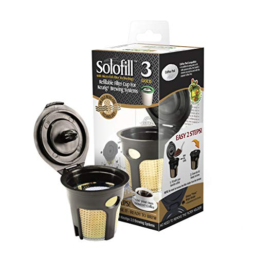 SFILK3GOLD - Solofill K3 GOLD CUP 24K Plated Refillable Filter Cup for - Solofill Cup