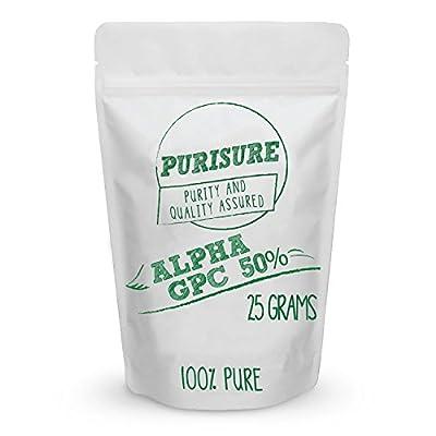 Alpha GPC 50% Powder | Choline Cognitive Enhancer | Nootropic | Enhanced Power Output | Mood Support | Memory | Learning | Concentration | Focus