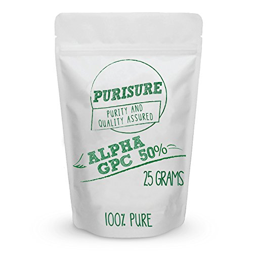 Alpha GPC 50% Powder 25g (42 Servings) | Choline Cognitive Enhancer | Nootropic | Enhanced Power Output | Mood Support | Memory | Learning | Concentration | Focus