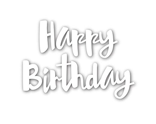 Happy Birthday Words Metal Cutting Dies Stencils for DIY Scrapbooking Photo Album Embossing Paper Cards Crafts (A) by DOULY (Image #2)