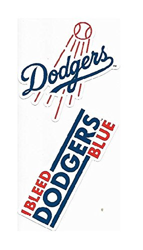 Rico Industries Los Angeles Dodgers Double Up Die Cut Vinyl Stickers